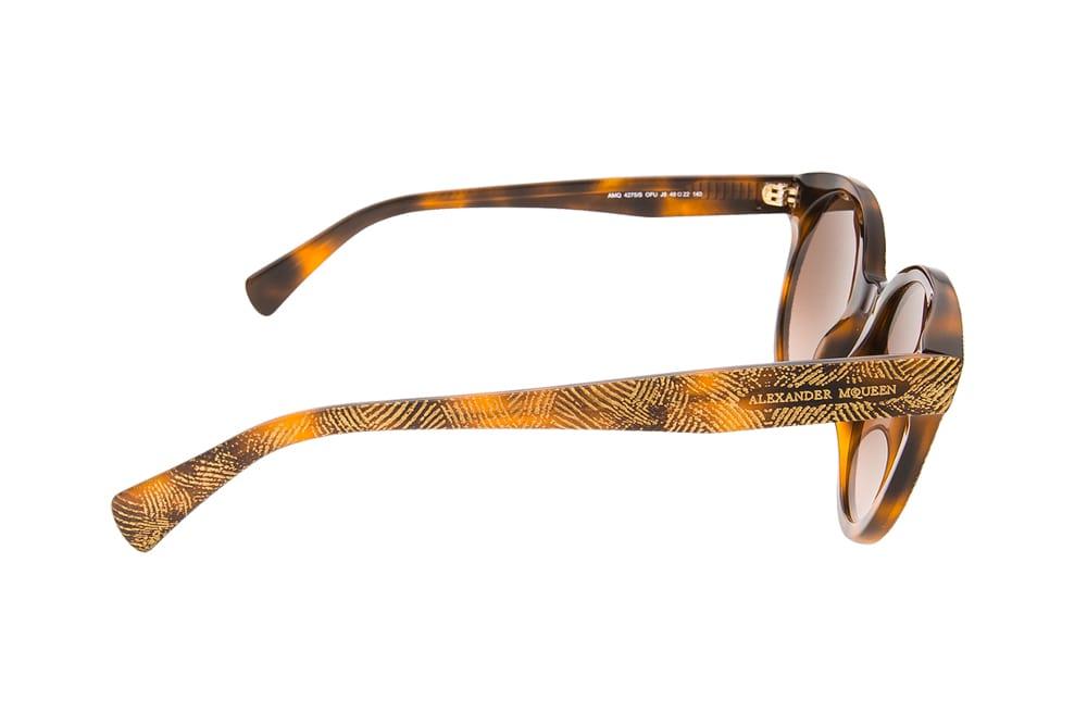 Alexander Mcqueen AMQ 4275S OFU J6 gold brown